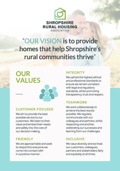 Front cover of the Shropshire Rural Vision & Values Leaflet